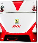 2005 Ferrari Fxx Evoluzione Hood Emblem Acrylic Print