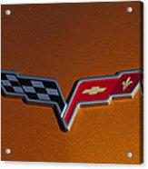 2007 Chevrolet Corvette Indy Pace Car Emblem Acrylic Print by Jill Reger