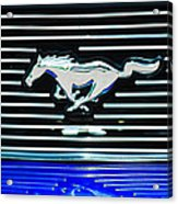 2007 Ford Mustang Grille Emblem Acrylic Print