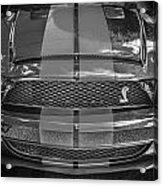 2007 Ford Shelby Gt 500 Mustang Bw Acrylic Print