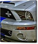2008 Ford Mustang Shelby Grill Headlight Acrylic Print