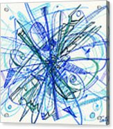2010 Abstract Drawing 21 Acrylic Print