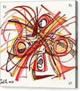 2010 Abstract Drawing 23 Acrylic Print