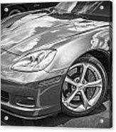 2010 Chevy Corvette Grand Sport Bw Acrylic Print