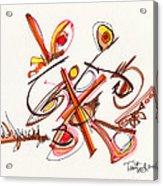 2012 Drawing #23 Acrylic Print