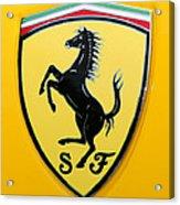 2012 Ferrari 458 Spider Emblem Acrylic Print