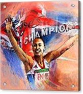 2012 Heptathlon Olympics Gold Medal Jessica Ennis  Acrylic Print