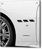2012 Maserati Gran Turismo S B And W Acrylic Print