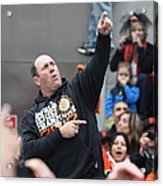 2012 San Francisco Giants World Series Champions Parade - Will The Thrill Clark - Dpp0006 Acrylic Print