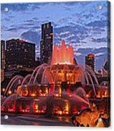 2013 Chicago Blackhawks Skyline Acrylic Print