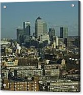 2013 Docklands London Skyline Acrylic Print
