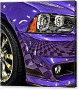 2013 Dodge Charger Headlight Acrylic Print