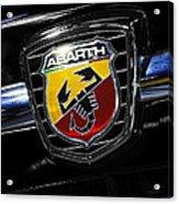 2013 Fiat 500 Abarth Acrylic Print