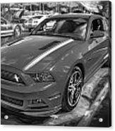 2013 Ford Mustang Gt Cs Painted Bw Acrylic Print