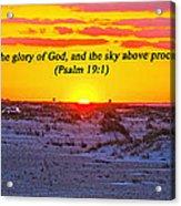 2014 03 12 02 A Psalm 19 1 Acrylic Print