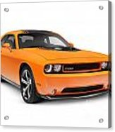 2014 Dodge Challenger Muscle Car Acrylic Print