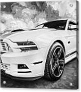 2014 Ford Mustang Gt Cs Painted Bw    Acrylic Print