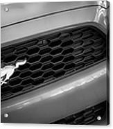 2015 Ford Mustang Prototype Grille Emblem -0092bw Acrylic Print