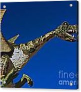 2015 Rose Parade Float Showing A Dragon 15rp039 Acrylic Print