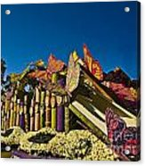 2015 Rose Parade Float With Butterflies 15rp044 Acrylic Print