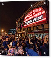 2016 World Series  - Chicago Cubs V Acrylic Print
