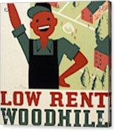 New Deal Wpa Poster Acrylic Print