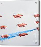 Red Arrows Acrylic Print