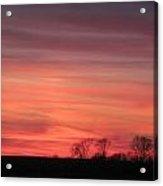 22 Dec 2012 Sunset Three Acrylic Print