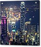 Hong Kong Panorama From Peak Acrylic Print
