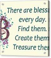 223- Blessings Acrylic Print