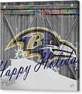 Baltimore Ravens Acrylic Print by Joe Hamilton