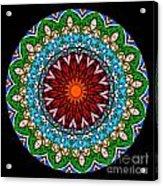 Kaleidoscope Stained Glass Window Series Acrylic Print by Amy Cicconi