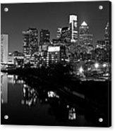 23 Th Street Bridge Philadelphia Acrylic Print by Louis Dallara