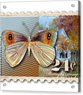 24 Cent Butterfly Stamp Acrylic Print