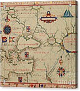 Old World Map Acrylic Print