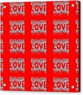 25 Affirmations Of Love In Red Acrylic Print