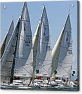 Sf Bay Sailing Acrylic Print