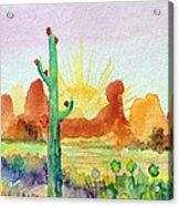 Southwestern Landscape Acrylic Print