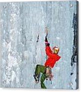 Ice Climbing Acrylic Print