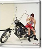 Models And Motorcycles Acrylic Print