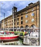 St Katherines Dock London Acrylic Print