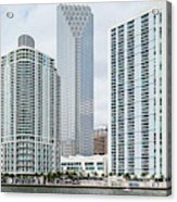 Skyscrapers At The Waterfront Acrylic Print