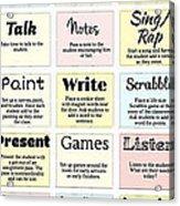27 Ways To Greet Students Acrylic Print