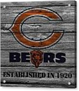 Chicago Bears Acrylic Print by Joe Hamilton