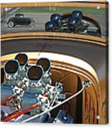 '29 Ford With '32 Ford Reflection Acrylic Print