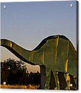 2d Brontosaurus Acrylic Print
