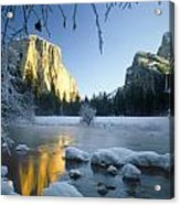 2m6538-yosemite Valley In Winter Acrylic Print
