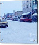 2nd Street Fairbanks Alaska 1969 Acrylic Print