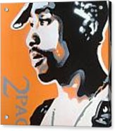 2pac In Orange Acrylic Print