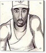 2pac Shakur Acrylic Print